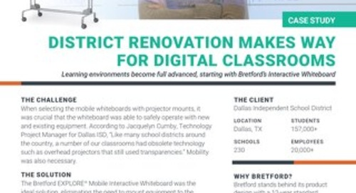 Dallas ISD updates classrooms with EXPLORE Interactive Whiteboards