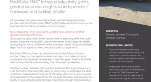 Toronto Lumber: RockSolid MAX Brings Productivity Gains
