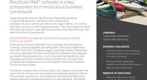 Taylorsville Hardware: RockSolid MAX Helps Business Turnaround