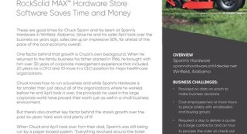 Spann's Hardware: How they Saved Time and Money with RockSolid MAX