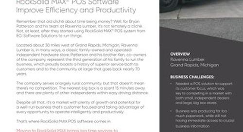 Ravenna Lumber: RockSolid MAX Improves Efficiency
