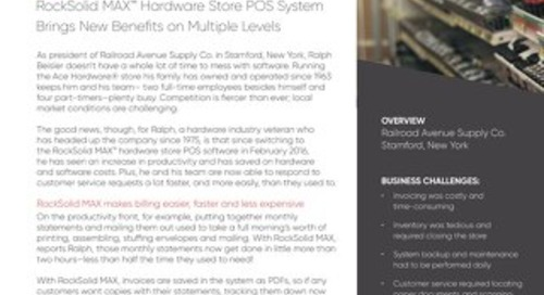 Railroad Avenue Supply: How RockSolid MAX Benefits this Ace Store