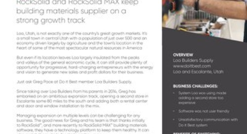 Loa Builders Supply: Software Keeps them on a Growth Track