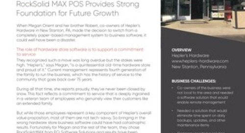 Hepler's Hardware: RockSolid MAX Provides Strong Foundation for Growth