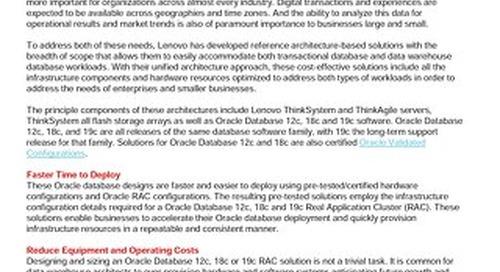 Lenovo Database Validated Designs for Oracle Database