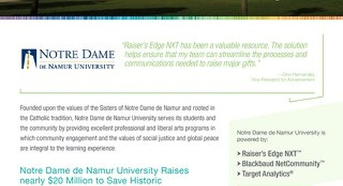Customer Story: Notre Dame de Namur University