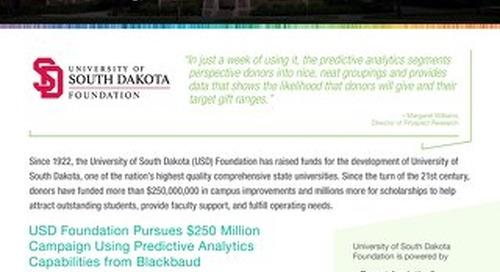 Customer Story: University of South Dakota Foundation