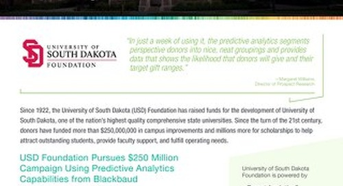 Customer Story: University of South Dakota Foundation