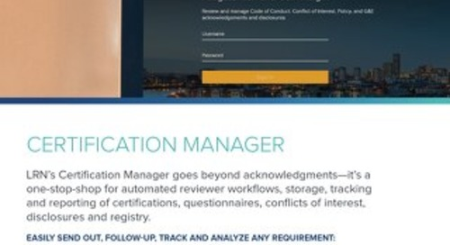 Certification Manager