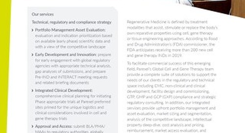 Cell & Gene Therapy factsheet