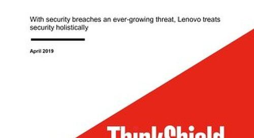 Lenovo ThinkShield: World-Class Security for the Data Center and Beyond
