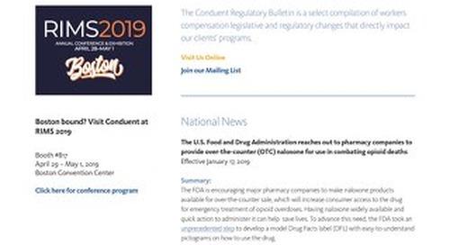 Conduent Regulatory Bulletin 2019 - Issue 1