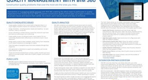 Quality Management with BIM 360