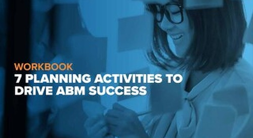 [ Demandbase Guide ] 7 Planning Activities to Drive ABM Success Workbook