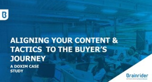 Aligning your Content & Tactics to the Buyer's Journey: Practical Ways to get Better Pipeline Results