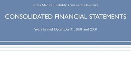 TMLT Annual Report 2001