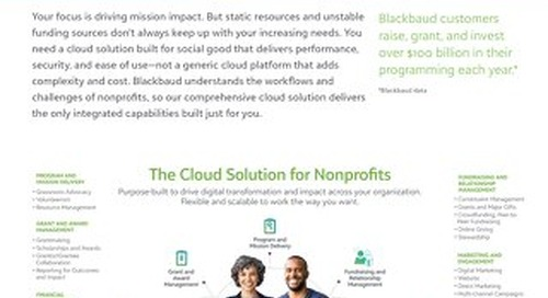 Datasheet: A deeper look into The Cloud Solution for Nonprofits