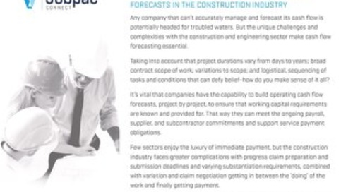 Cash Flow Forecasting for the Construction Industry