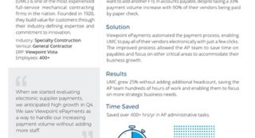 UMC Leverages Payment Automation to Grow 25% Without Adding Headcount