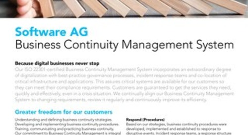 Why you can trust our business continuity management system