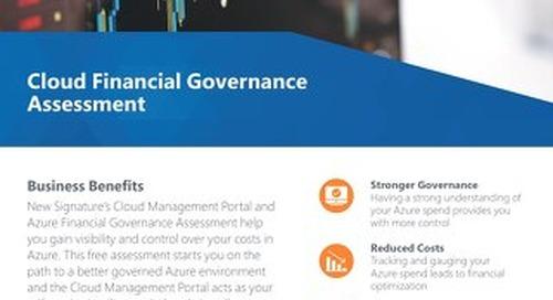 Cloud Financial Governance Assessment Flyer 2019
