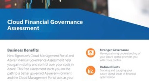 Cloud Financial Governance Assessment Flyer 2019