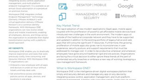 VMware Workspace One datasheet