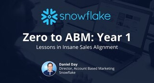 How Snowflake Engaged 100% of Their 800 Target Accounts with Personalized Content Experiences