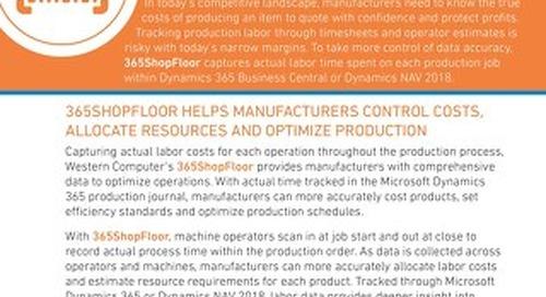 365ShopFloor Sales Sheet
