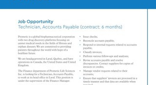 Laval, CA - Technician, Accounts Payable (contract: 6 months)