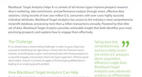 The Power of Affluence Insight from Blackbaud Target Analytics