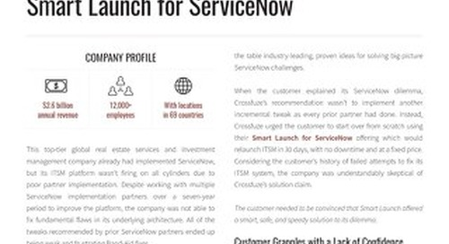 ServiceNow Success Story: Global Real Estate Services and Investment Management Company