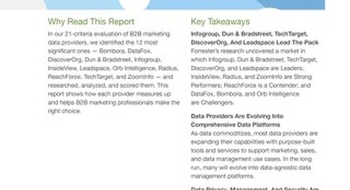 The Forrester Wave™: B2B Marketing Data Providers, Q3 2018