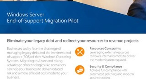 Windows Server EOS Migration Pilot Flyer 2019 Digital