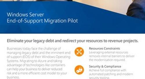 Windows Server EOS Migration Pilot Flyer 2019 Digital
