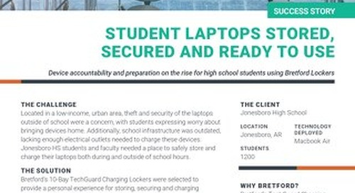 Students No Longer Worry About Mobile Device Charging & Security at School