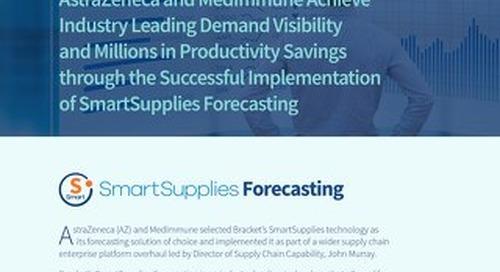 SmartSupplies Forecasting Case Study - AstraZeneca and MedImmune
