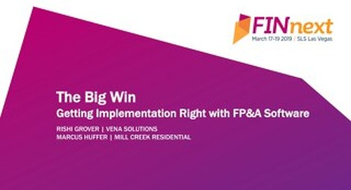 The Big Win: Getting FP&A Implementation Right