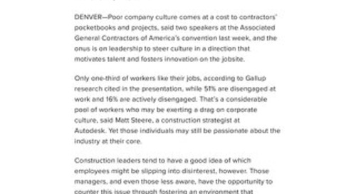 [Article Link] Construction Dive | Leaders are key to building a culture that motivates, innovates