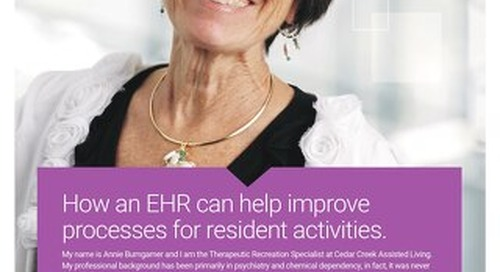 Customer Success Story: How an EHR can help improve  processes for resident activities
