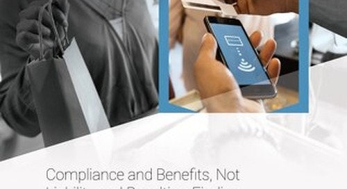 Compliance and Benefits, Not Liability and Penalties