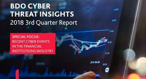BDO Cyber threat insights - 2018 3rd quarter report