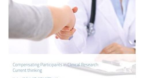 Compensating Participants in Clinical Research: Current Thinking