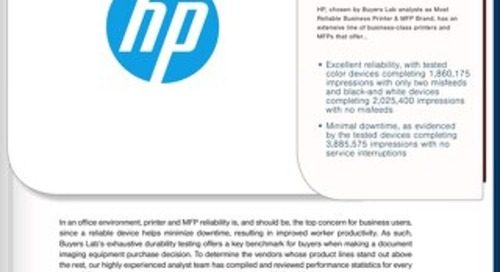 HP Print Reliability Award