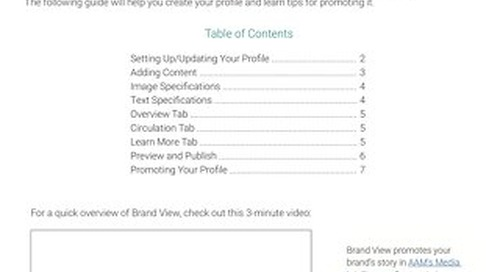 Brand View Best Practices Guide