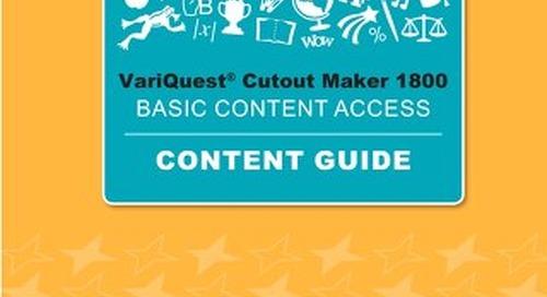 VariQuest Cutout Maker Basic Access Content Guide 2019