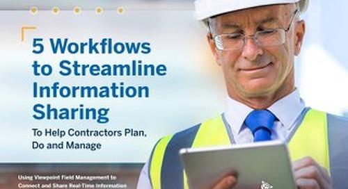 5 Workflows to Streamline Information Sharing Between Office, Team & Jobsite