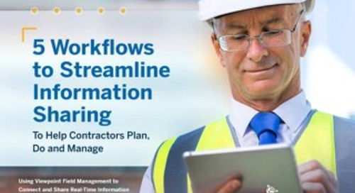 5 Workflows to Streamline Information Sharing Between Office, Team & Jobsite