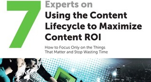 7 Experts on Using the Content Lifecycle to Maximize Content ROI