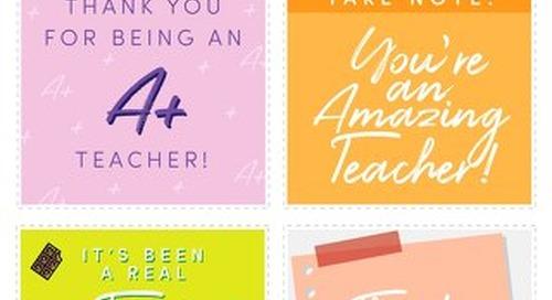 Teacher Appreciation Week Gift Tags